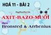 Axit Bazơ Muối và Hidroxit lưỡng tính theo thuyết Arêniut và thuyết Bronsted - hoá 11 bài 2
